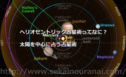 ヘリオセントリック占星術ってなに?太陽を中心に占う占星術